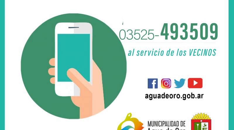 NUEVA LINEA TELEFÓNICA MUNICIPAL DE ATENCIÓN A VECINOS