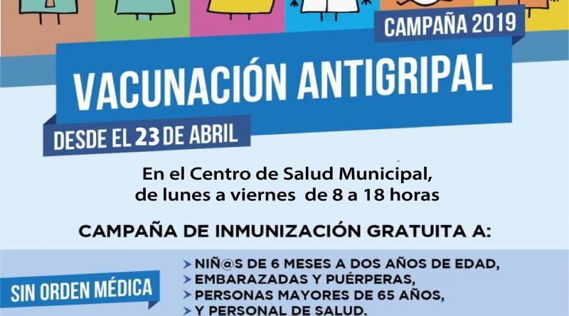 COMIENZA LA CAMPAÑA DE VACUNACIÓN ANTIGRIPAL