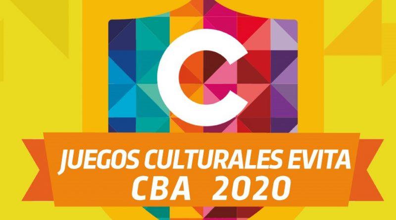 """CONVOCATORIA A CERTAMEN """"JUEGOS CULTURALES EVITA CBA 2020"""""""